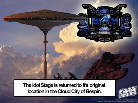 Idol stage in Bespin