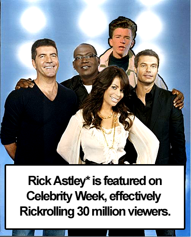 Rick Astley as Idol judge