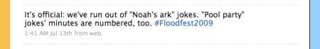 Live Tweet Flood 3